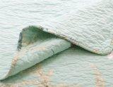 最新のデザイン最上質の競争価格のベッドのキルトの緑色の花