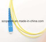 Simplex optique de Sc-FC de cordon de connexion de fibre, SM pour le système de communication de fibre optique