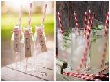 Pajas de beber de papel coloridas hermosas para las decoraciones en partido