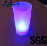 Taza electrónica coloreada favorable al medio ambiente de la luz de la vela de la alta calidad