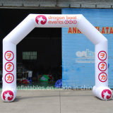 Arco material do PVC da iluminação inflável do diodo emissor de luz com o ventilador para a venda