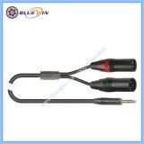 Câble Y audio Microphone répartiteur et l'adaptateur 2 XLR mâle vers 3.5mm jack stéréo TRS 6,35 mm Plug