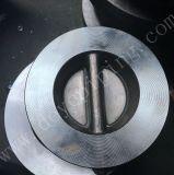 Aço inoxidável único disco da válvula de retenção de wafers com banco de Metal