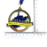Großhandelsform-Decklack-Metalllaufende Sport-Medaillen mit Farbband