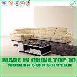 La moderna forma de L esquina esquina conjuntos de sofás de cuero negro