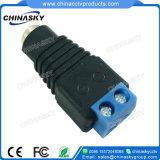 CCTVの青いねじ込み端子(PC101BL)が付いている女性の電源コネクタ