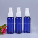 50ml botella de PET azul con blanco Mist pulverizador y tapa transparente Pet-9