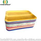 Долговечные цветные Reuseable здравоохранения биоразлагаемых подают легкие закуски волокна из бамбука Composable лоток