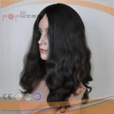 Perruque foncée de cheveu bouclé de cheveux humains