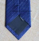 La poly marine tissée pointille la cravate pour les hommes