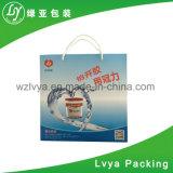Kundenspezifischer Chirstmas zurückführbarer Weißbuch-Geschenk-Beutel mit Firmenzeichen-Drucken