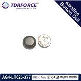 Pilha alcalina da tecla China da fábrica livre de AG0/Lr521 Mercury&Cadmium para o relógio