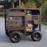 Resfriado a ar silencioso do cilindro único conjunto de gerador a diesel