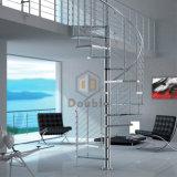 Escalera espiral del vidrio Tempered del acero inoxidable 316
