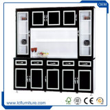 Gabinete de cozinha padrão clássico da porta da madeira contínua