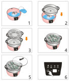 レストランの高容量の電気熱い蒸気の炊事道具