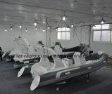 Barco inflable rígido de la costilla de la consola de centro de Liya los 5.2m