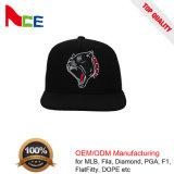 Venda por grosso de qualidade superior 100% acrílico Borda Plana Snapback Hat com travamento de plástico