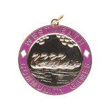 Kundenspezifische runde geformte Zink-Legierung Druckguss-Flaschen-Öffner-Medaille mit Farbband