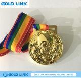 Souvenir de métier de médaille gravé en relief par médailles faites sur commande en métal de cadeau de promotion