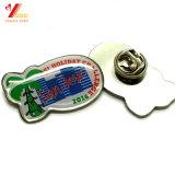 Impreso de metal personalizados con epoxi insignia de solapa con mariposa embrague (YB-P-022)