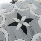 Waterjet van de Vorm van de Bloem het Marmeren Mozaïek van uitstekende kwaliteit van het Mozaïek