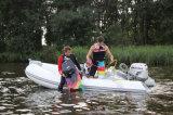 Nervure gonflable Bateau de pêche en fibre de verre rigide bateau gonflable