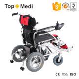 無効のためのインポートされたジョイスティック制御携帯用折るスライバカラー電動車椅子