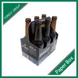 Rectángulo del portador de papel de la cerveza de la corona de 6 paquetes
