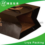 Sac de transporteur de papier fait sur commande en papier d'emballage avec la chaîne de caractères de papier