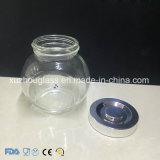 Transparente Pfeffer-Soße-Marmeladen-Glasglas mit goldener Zinn-Kappe