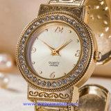 금 색깔 (WY-17006F)의 주문 상표 석영 시계 형식 디지털 시계