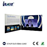 6-дюймовый экран содействовать ЖК-видео для открыток выделяется на приглашение