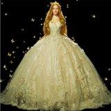 Type neuf 2018 3/4 robe de mariage ene ivoire de robe de bille de chemises Z201710