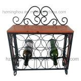 Cremalheira fixada na parede decorativa do vinho com a cremalheira de 4 vidros