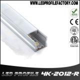 Diffusore di alluminio di profilo del nastro della striscia del LED per l'indicatore luminoso di striscia del LED
