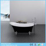 Tina de baño negra de Clawfoot de los precios baratos (LT-709B)