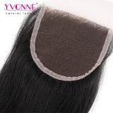 Formato brasiliano all'ingrosso 4*4 della chiusura della parte superiore del merletto dei capelli del Virgin