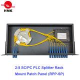 Tableau de connexions de fibre optique de montage sur bâti de diviseur d'AP de 2h32