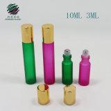 3ml 10ml Rolo Cosméticos coloridos na garrafa de vidro com metal roller ball