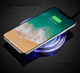 Carregador sem fio do diodo emissor de luz do círculo de cristal para o iPhone