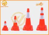 反射カラーが付いている路傍の安全TPEのトラフィックの円錐形