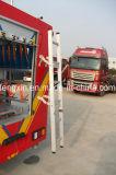 비상사태 구조 트럭은 특별한 차량 부속품 뒤 사다리를 분해한다