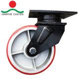 Núcleo de hierro PU 1.4ton la capacidad de carga Super Heavy Duty ruedas industriales