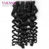 Arricciatura italiana dei capelli umani di Yvonne del merletto della chiusura brasiliana della parte superiore