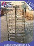 Hete Verkoop 16 het Pan Multifunctionele Aangepaste Rek van de Bakkerij van het Rek van de Mand van het Roestvrij staal Karretje
