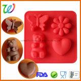 Molde bonito quadrado da geléia dos doces de chocolate do silicone do atacadista