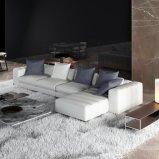 Moderner Gewebe-Sofa-gesetzter Entwurfs-Aufenthaltsraum