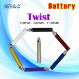 Toque de caneta Vape Seego EGO com tensão variável da bateria