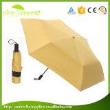 マニュアルの開いたプラスチックハンドル3のフォールド6のパネルの小型傘